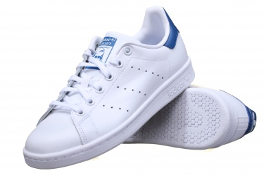 Stan Smith J S74778 Blanc/Bleu