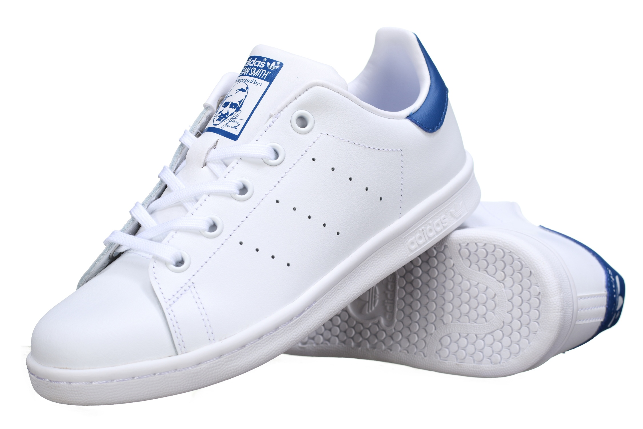 adidas stan smith blanc bleu
