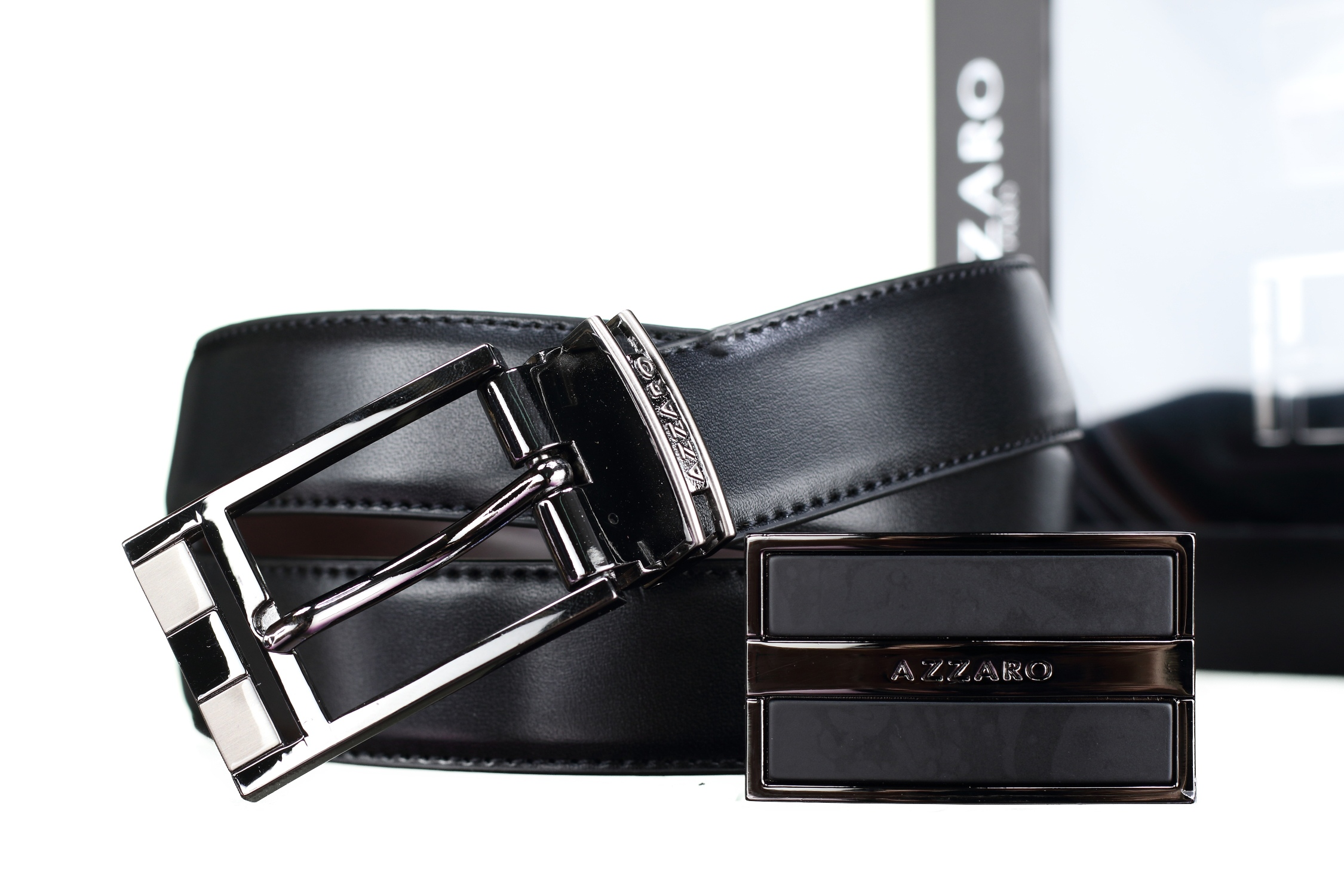 http://www.leadermode.com/137186/azzaro-coffret-2-boucles-148-new-reversible-noir-marron.jpg