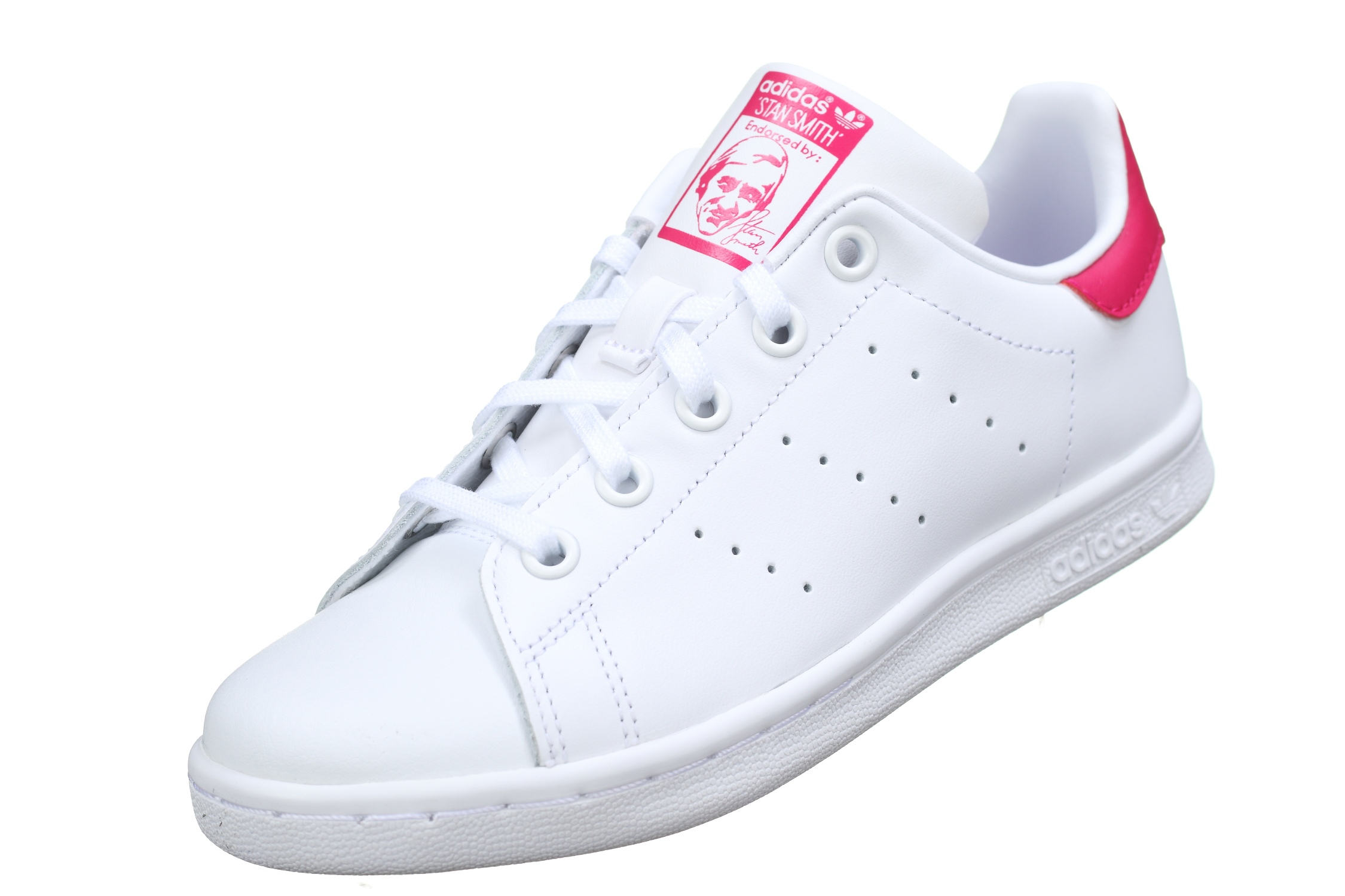 b21b8354382d5 Basket garçon Adidas Stan Smith C Ba8377 Blanc Rose - Leader Mode -