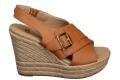W Claudeene Tan Leather