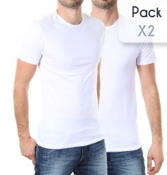Pack Col Rond*2 Blanc