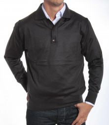 Merinos Col Polo Anthracite