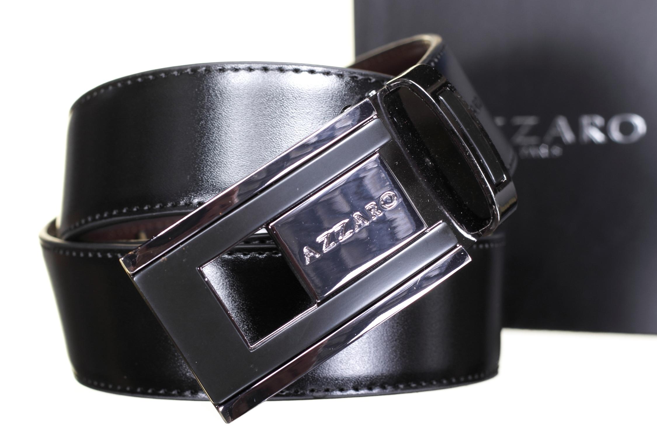 604bb4de57ee Ceinture Azzaro Large 91136 Reversible Noir Marron - Leader Mode -